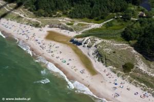 Żukowo Morskie - plaża w pobliskim Bobolinie